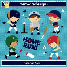 Baseball Players Vector Clipart includes Popular team baseball graphics , Home Run word art, baseball bat and ball for the perfect sports party, tote bags and monogramming! This set is wonderful for party invitations [...]