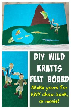 The perfect gift idea for your kids that is guaranteed to provide them with hours of fun... and learning too! An easy, cheap, DIY felt board! Based on whatever your child is interested in... any TV show, movie, book. Anything at all!