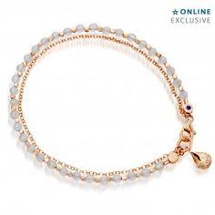 I love this 18 carat rose gold blue lace agate dew drop charm bracelet - Web Exclusive  from Astley Clarke.