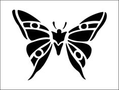 Butterfly stencil from The Stencil Library BUDGET STENCILS range. Buy stencils online. Stencil code MS36.