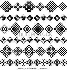 stock vector : A set of of black and white geometric designs. Vector illustration. pattern seamless texture