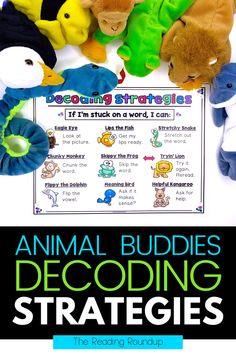 Are you looking for reading strategies to help your elementary students decode unknown words? These Beanie Baby decoding strategies posters and bookmarks are perfect to help students during guided reading, independent reading, literacy centers, and reading buddies. Help emergent and struggling readers become successful and confident readers with these engaging and effective decoding strategies! #thereadingroundup #readingstrategies #decoding