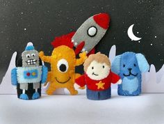 Finger puppets in space