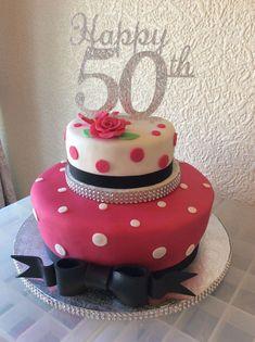 birthday present boyfriend Frozen Birthday Cake, 60th Birthday Cakes, Cupcake Birthday Cake, Happy 50th Birthday, Birthday Cakes For Women, Fabulous Birthday, Cupcake Cakes, Daisy Cakes, Doughnut Cake