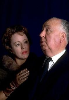 """ Patricia Hitchcock and Alfred Hitchcock. ."