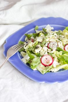 Chopped Salad with Radishes and Blue Cheese. IDK how well it will work, but substitute the brown sugar for splenda?