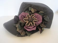 Dusty Lavender Rolled Rose Ribbon Grey Cadet by theraggedyrose, $35.00