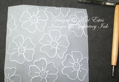 Dry embossing with Vellum & stamps