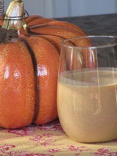 Pumpkin pie white hot chocolate.