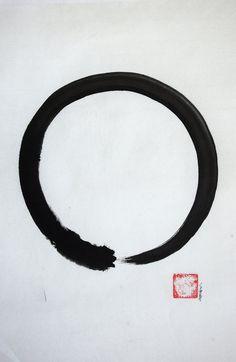 Enso. Zen buddhist symbol. Japanese calligraphy por SamuraiArt