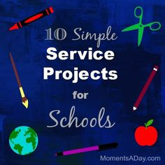 Valentines Day ~ What a great time to feel the love . . . 10 Easy Service Projects for Classrooms.  Love these free ideas!