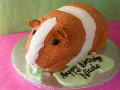 Pin The Ear Guinea Pig Cake cakepins.com