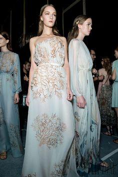 "forlikeminded: "" Valentino - Paris Fashion Week - Spring 2015 - Backstage """