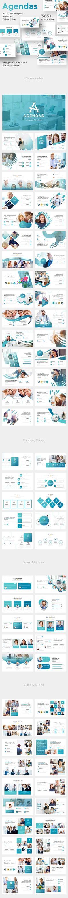 Innovation Agendas Pitch Deck Google Slide Template - Google Slides Presentation Templates Presentation Slides, Business Presentation, Presentation Design, Presentation Templates, Pitch Deck, Creative Powerpoint Templates, Website Design Inspiration, Keynote Template, Business Design