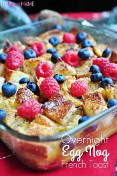new Christmas morning tradition! Overnight Eggnog French Toast Casserole Recipe ~ perfect, make-ahead breakfast for Christmas morning! Make Ahead Breakfast, Breakfast For Dinner, Breakfast Dishes, Breakfast Recipes, Breakfast Ideas, Breakfast Toast, Breakfast Crockpot, Savory Breakfast, Brunch Ideas