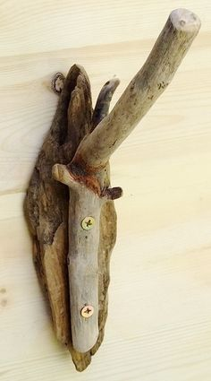 Driftwood toilet roll holder for bathroom or toilet rustic & natural.