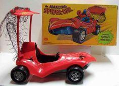 vintage toy spiderman car   Spiderman Car MIB C-9