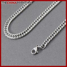 7MM MENS 20` STAINLESS STEEL CURB CHAIN NECKLACE N5004 Cheap Fashion Jewelry, Trendy Jewelry, Silver Wedding Rings, Body Piercing, Wholesale Jewelry, Glass Pendants, Blue Diamonds, Stainless Steel, Chain