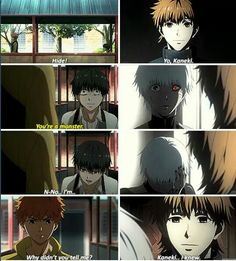 It hurts, kaneki thought that hide would hate him, but the reality was diferent :'( || Kaneki Ken and Hide Nagachika || Tokyo Ghoul