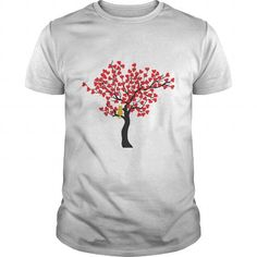 I Love TREE HEART T shirts