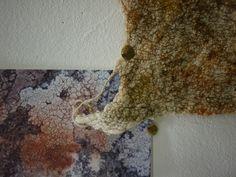 Liz Clay Nuno felted samples. Felting workshop at West Dean, August 2013.