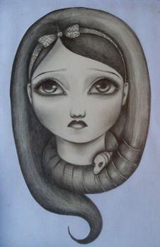 """Medusa"" paper on pencil"