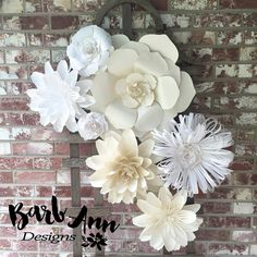 Large Paper Flower Wall Decor/Backdrop by BarbAnnDesigns on Etsy https://www.etsy.com/listing/237256003/large-paper-flower-wall-decorbackdrop
