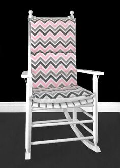 Pink Zig Zag Rocking Chair, Custom Covers And Inserts | affordable, designer, custom, handmade, trendy, fashionable, locally made, high quality Grey Chevron, Pink Grey, Ikea Kids Room, Rocking Chair Cushions, Chair Cushion Covers, Kids Room Organization, Kids Room Design, Slipcovers For Chairs, Baby Discount