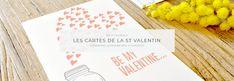 les Cartes de la Saint Valentin à imprimer Madame C, Napkins, Valentines, Cards, Valentine's Day Diy, Towels, Dinner Napkins, Valentines Day, Valentine's Day