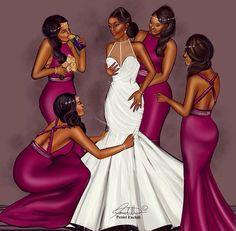 Peniel Enchill +++++++++++MMMMMM++++ https://es.pinterest.com/barbarabaxter28/wedding-illustrations/