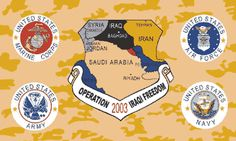 """Flag of the Day """"Operation Iraqi Freedom Combined Flag"""" #rvflags #rvflagpoles   http://www.a1flagsnpoles.com/operation-iraqi-freedom-combined-flag"""