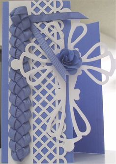 Easter Card.  Braided ribbon. (see my boards on Tutorials)