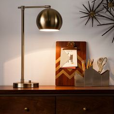 Threshold Brass Task Lamp - Brass - Gold