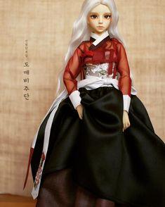 [HeukMae] #dollstagram #bjd #인형한복 #dressmaking #craft #silk#dollhanbok