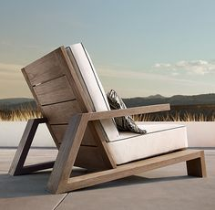 Olema Teak Lounge Chair - Expolore the best and the special ideas about Lounge chairs Outdoor Furniture Plans, Deck Furniture, Pallet Furniture, Furniture Design, Chair Design, Pallet Chair, Diy Sofa, Diy Chair, Teak
