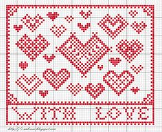 Cross Stitch Hearts pattern