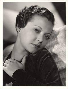 Portrait of Sylvia Sidney from Fury by Clarence Sinclair Bull.