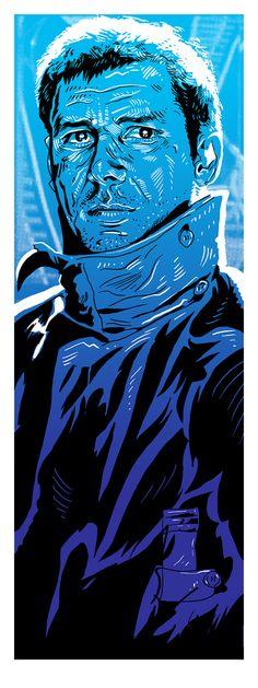 Rick Deckard Blade Runner print by Tim Doyle, Nakatomi Inc.