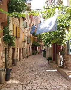Romantic street in Rovinj (Croatia) Imagine just walking along.. not even talking...Oh my....