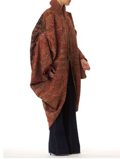Poiret Inspired Cocoon Coat Made from a Victorian Shawl
