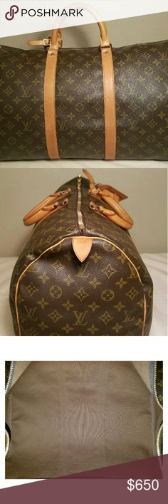 Authentic Louis Vuitton Keepall 50 In excellent condition. No flaws to disclose. Comes with luggage tag and handle holder. Better price elsewhere Bags Travel Bags