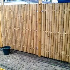 Discover the best Bamboo Screening. Buy your Giant Bamboo Fence Panel 180 x 180 cm at Bamboo Import Europe. Bamboo Garden Fences, Bamboo Privacy Fence, Bamboo Fencing Ideas, Bamboo Ideas, Bamboo Poles, Bamboo Wall, Bg Design, Modern Design, Giant Bamboo