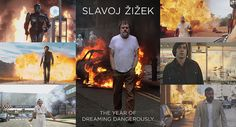 Slavoj Žižek and the cool guys who don't look at explosions #zizek #thelonelyisland #meme