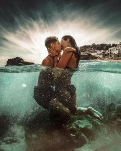 Photographer Joan Carol creates compelling fantasy portrait photography that often revolves around the swirling beauty of the ocean. Underwater Photography, Couple Photography, Portrait Photography, Photography Of People, Infrared Photography, Passion Photography, Iphone Photography, Cute Couple Pictures, Beach Pictures