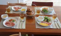 クロワッサンと朝食ワンプレート