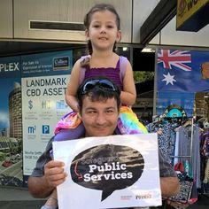 Townsville Sunday markets ... 1 in 10 government jobs gone. Cutting Public Services is a big No.
