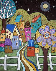 Karla Gerard.  I like the night sky