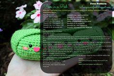 Amigurumi Food: Peas in a Pod Amigurumi Food-Free pattern!!