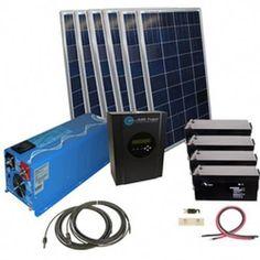 1440 Watt Off Grid Solar Kit with 4000 Watt Power Inverter Charger - 24 Volt #solarpanels,solarenergy,solarpower,solargenerator,solarpanelkits,solarwaterheater,solarshingles,solarcell,solarpowersystem,solarpanelinstallation,solarsolutions,solarenergysystem,solargeneration