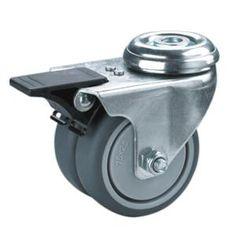 Lenkrolle 80 mm  mit Feststeller PP Rolle Rad Bremse